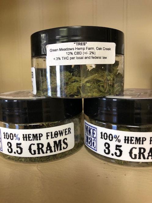 "3.5 grams ""Sweet Grass"" and ""ACDC"" Hemp Flower"