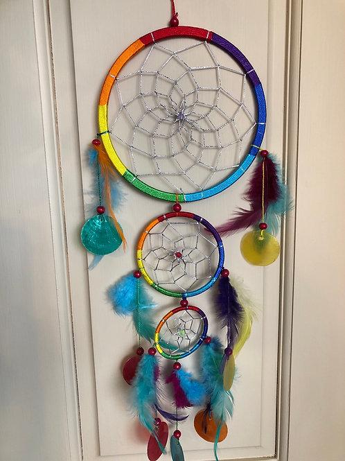 Chakra Colors Dream Catcher