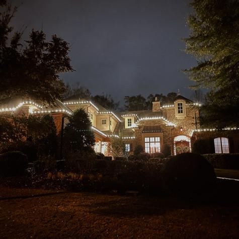 Christmas roof lighting!