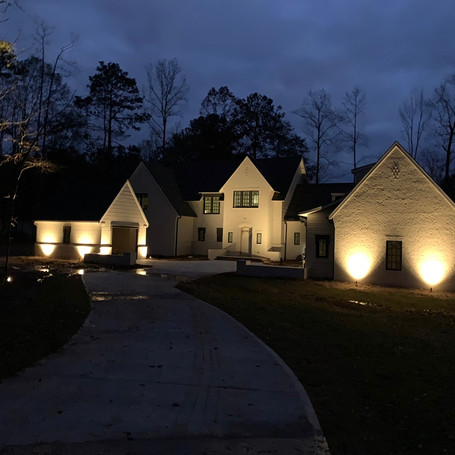 Exterior home lights to a gorgeous Auburn home!
