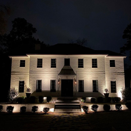 Beautiful exterior lighting for the home!