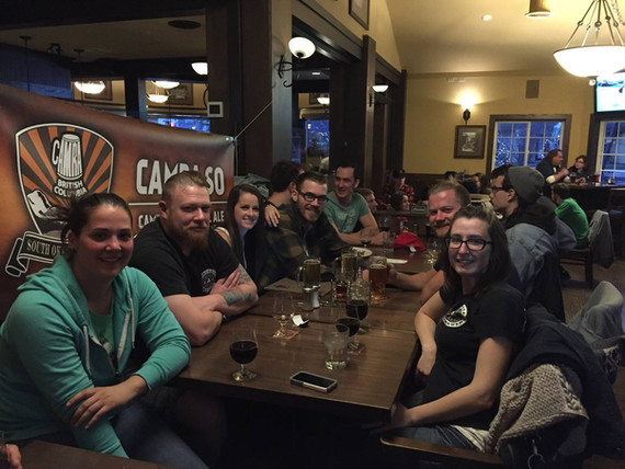 """Friends at the Campaign Launch Party at KVS Pub, Penticton, BC, which doubled as a St Paddy's Day """"Jam Night"""" Celebration (March 17, 2016)."""