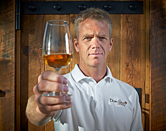Grant Stevely of Dubh Glas Distillery donated to us a personal tour to offer as a campaign reward.