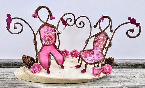 Le banc rose