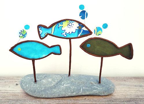 Trois poissons verts