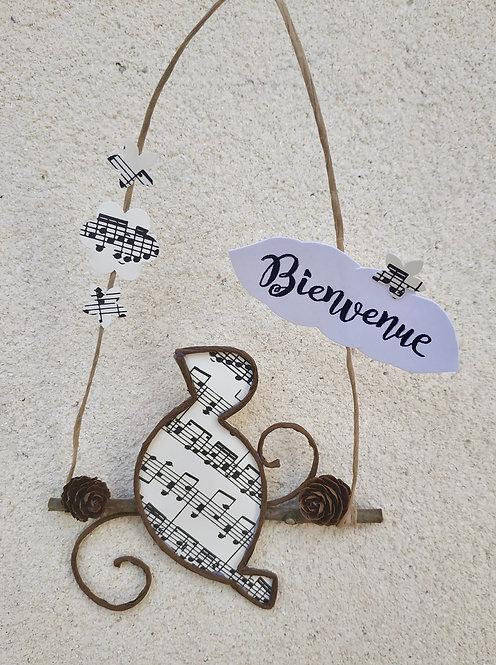 """L'oiseau sur la branche """"Bienvenue"""""""