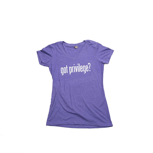 Got Privilege? Heather Purple Women's V-neck