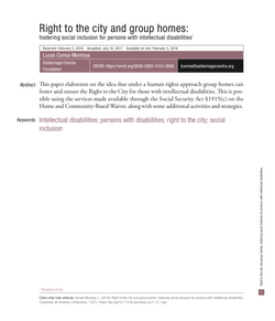 Right to the City and Group Homes
