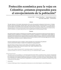 Protección económica para la vejez