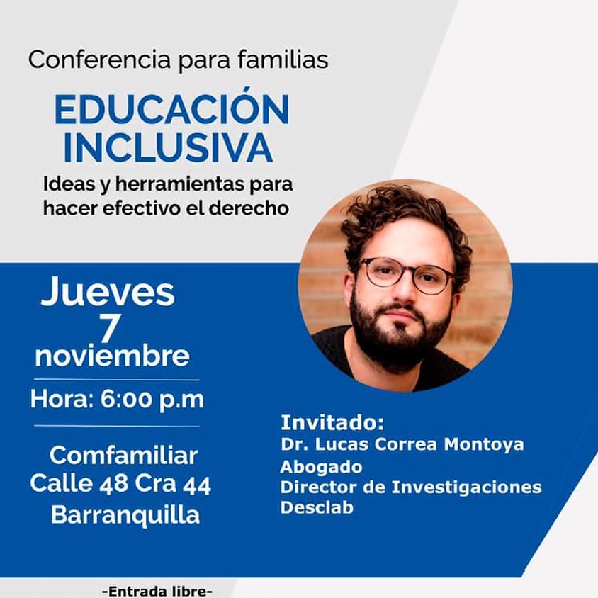 Conferencia para familias   Educación inclusiva: ideas y herramientas para hacer efectivo el derecho