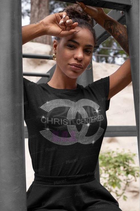 Christ Centered - Bling T-Shirt (Extended Sizes)