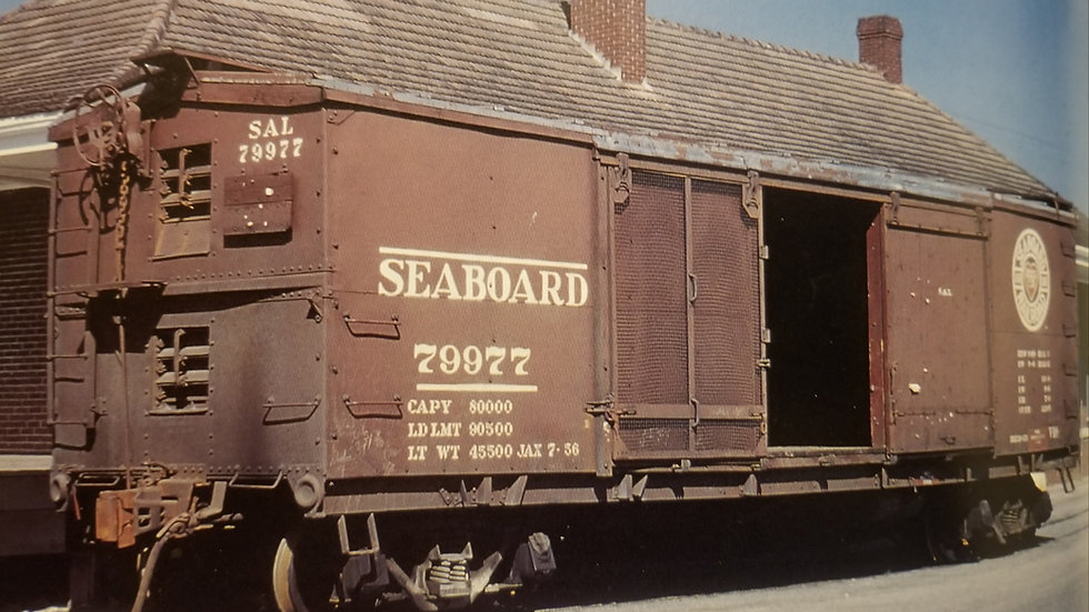Seaboard Air Line V10 Ventilated Boxcar.   SAL-05