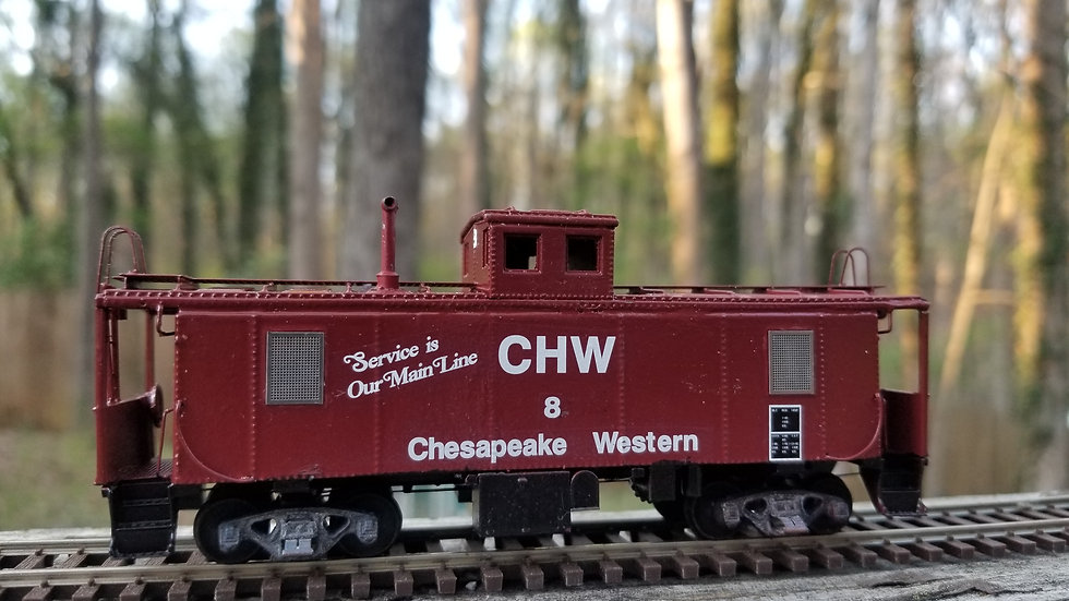 Akron, Canton, & Youngstown/Chesapeake Western ICC caboose HO scale kit AC&Y-1