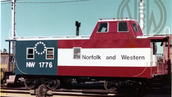 N&W C18, Wabash/DT&I/Ann Arbor streamlined cupola caboose N&W-02