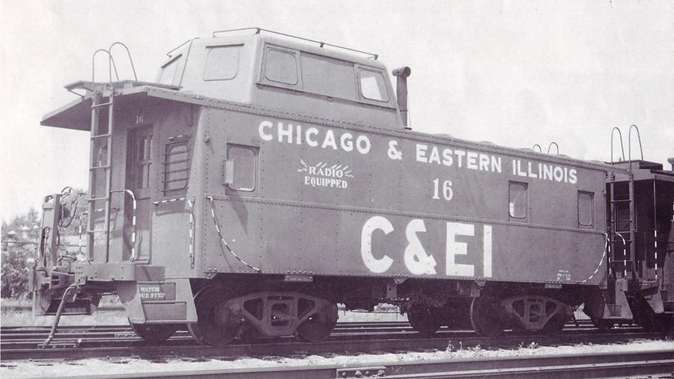 Chicago and Eastern Illinois Streamlined Cupola Caboose HO  scale kit C&EI-01
