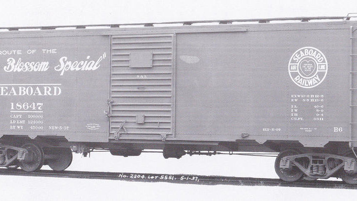 Seaboard Air Line B6 Boxcar.   SAL-04