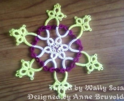 Snowflake with 3 colors