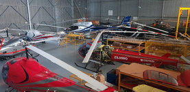 Shoo Wee!! Our Helicopter Maintenance Hangar is Busy.. 10 Heli's Hmmmm