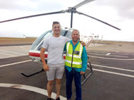 Chris Smith our CFI Helicopters enjoying time with the students