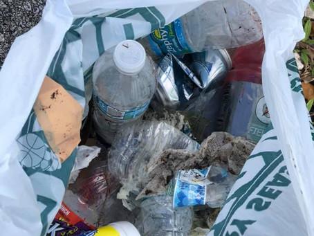 Picking up trash, leaving love