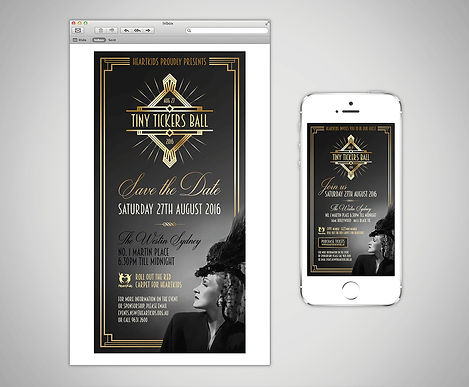 Twice as Eager Graphic Design - HeartKids Gala Ball EDM
