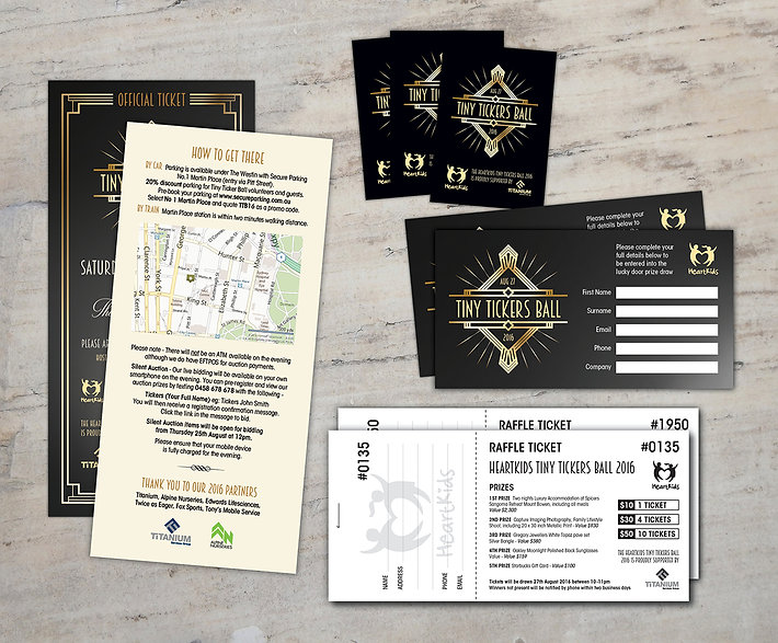 Twice as Eager Graphic Design - HeartKids Gala Ball Tickets