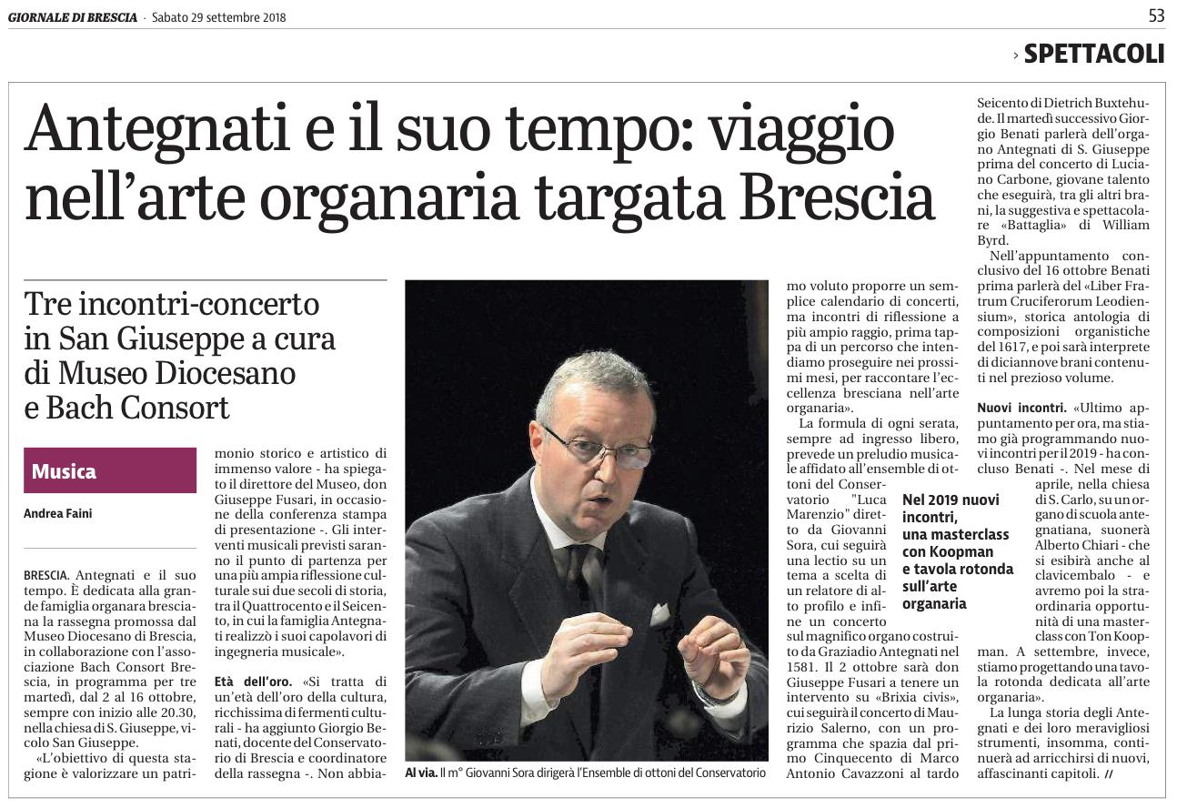 Il Giornale di Brescia 2018