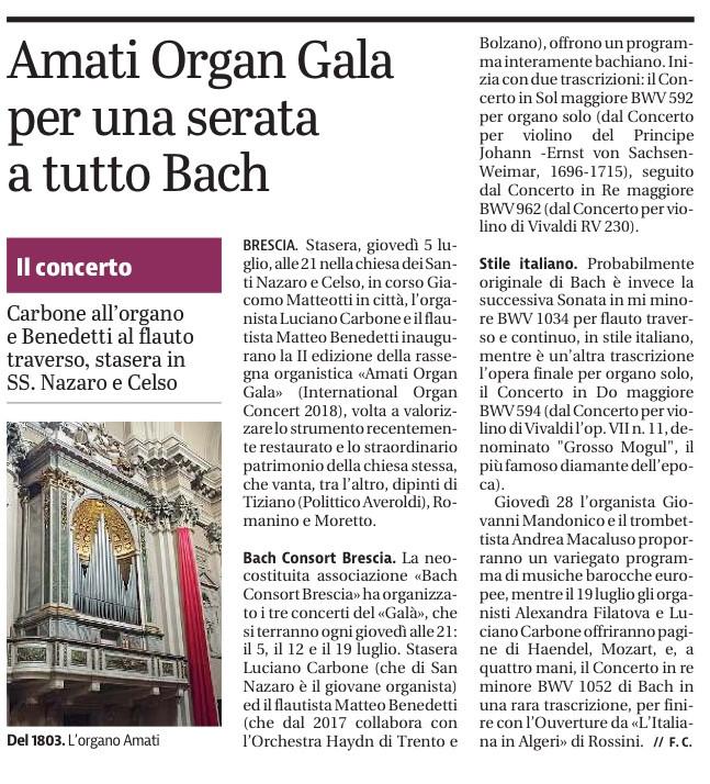 Giornale di Brescia 2018
