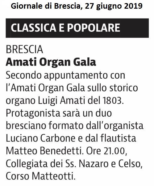Giornale di Brescia, 27 giugno 2019
