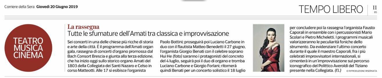 Corriere della Sera 2019