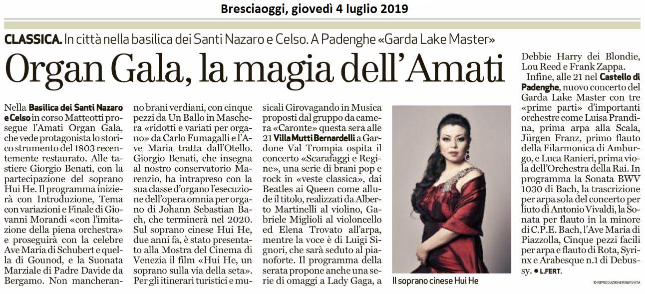 Bresciaoggi, 4 luglio 2019