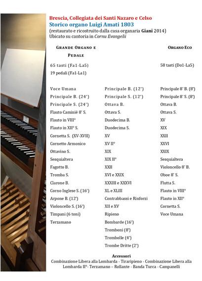 Scheda dell'organo