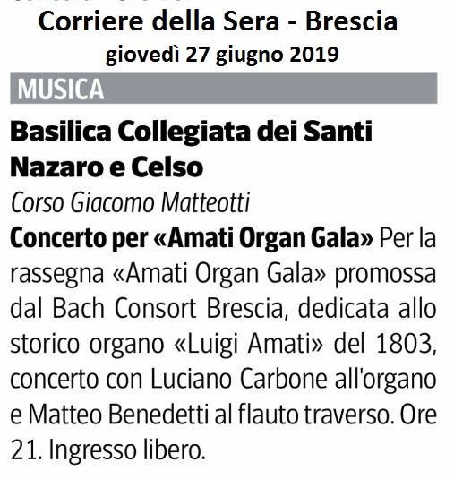 Corriere della Sera, 27 giugno 2019