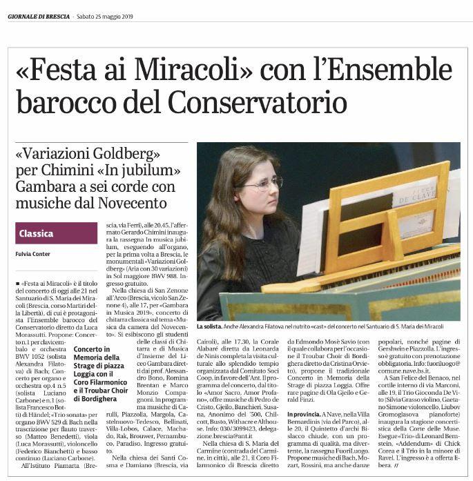 Giornale di Brescia 2019