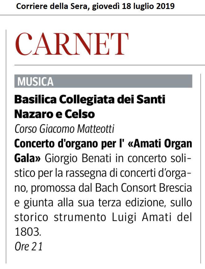 Corriere della Sera, 18 luglio 2019