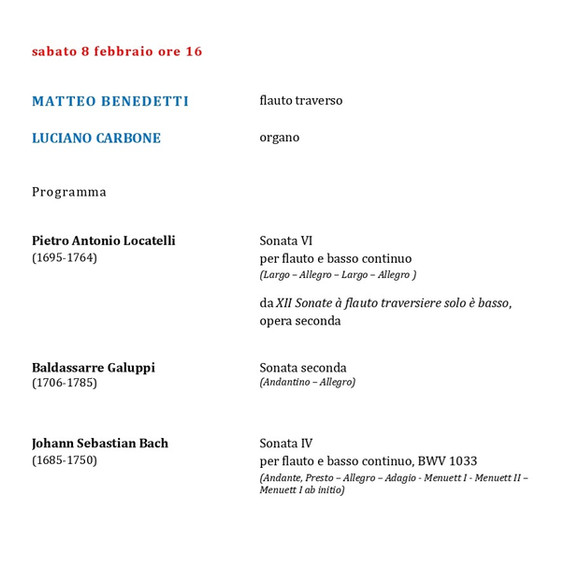 Programma 8 febbraio 2020