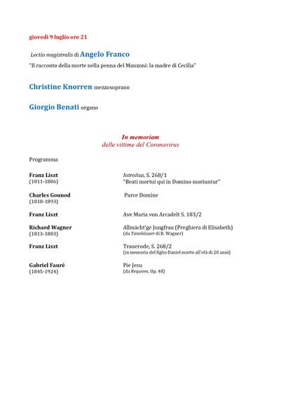 Programma di sala 2020