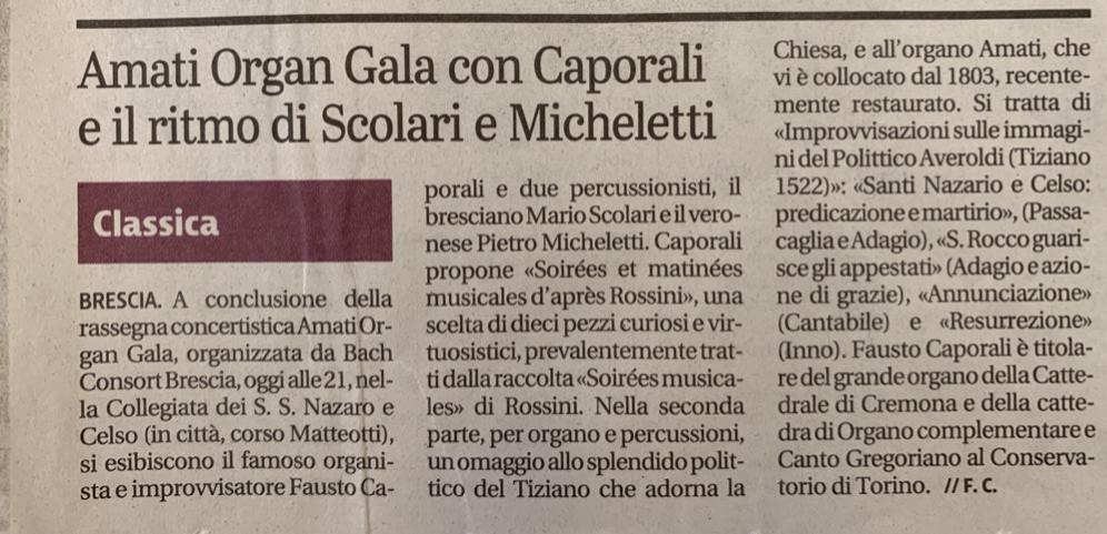 Giornale di Brescia 25 luglio 2019