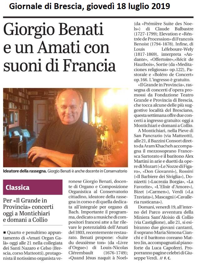 Giornale di Brescia, 18 luglio