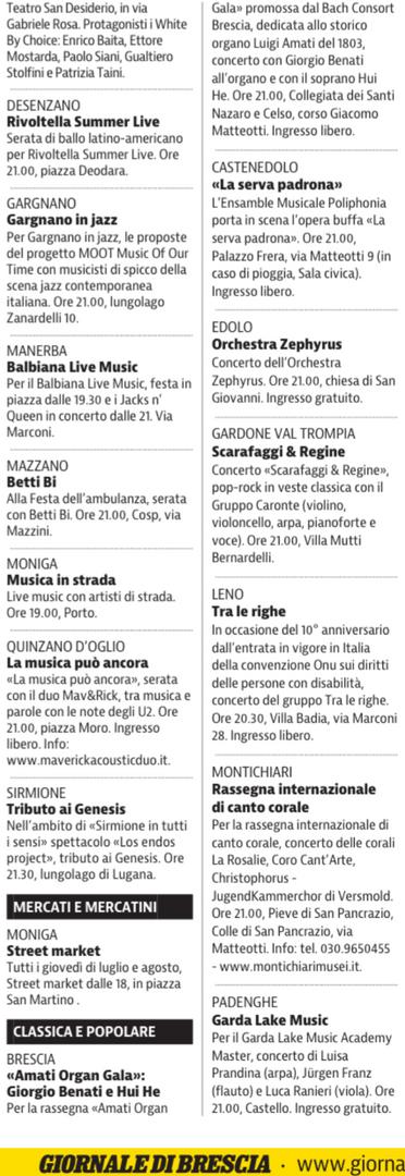 Giornale di Brescia, 4 luglio 2019