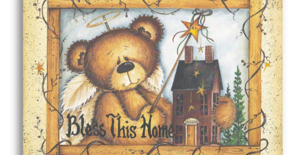 Bless This Home Angel Bear - C-75M