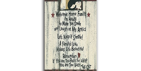 Welcome Home-Cat - 20470