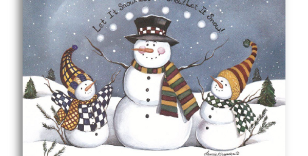 Snowman Trio Let it Snow - C-202M