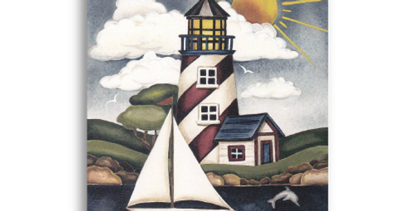 Lighthouse with Sailboat - C-10M