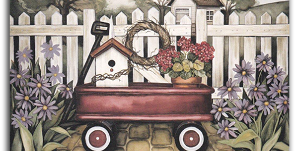 Wagon by the Fence - A-06
