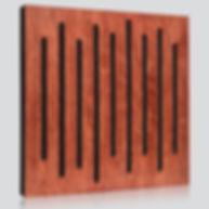 panele akustyczne, pochłanianie dźwięku, ustroje akustyczne, drewniane panele akustyczne, akustyka pomieszczeń, Wood Equalizer Mahogany, współczynnik pochłaniania dźwięku α, pianka akustyczna