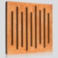 panele akustyczne, pochłanianie dźwięku, ustroje akustyczne, drewniane panele akustyczne, akustyka pomieszczeń, Wood Equalizer Cherry, współczynnik pochłaniania dźwięku α, pianka akustyczna