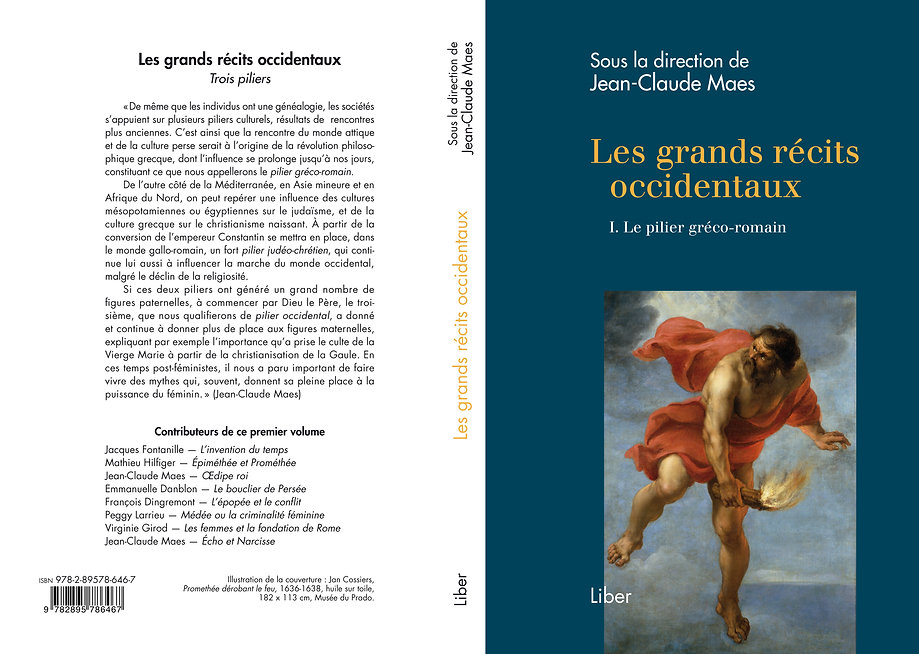 "Livre ""Les grands récits occidentaux-1.Le pilier gréco-romain"", Editions LIBER, 2018, direction Jean-Claude MAES, PREFER asbl"