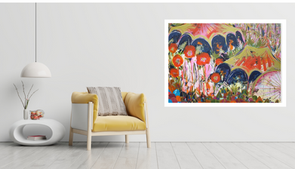 Festive Vibes 143 x 114cm acrylic on canvas, gold leaf liquid.png