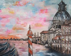 Venice painting on canvas - commission